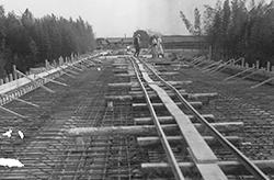 橋梁工事(昭和38年11月)