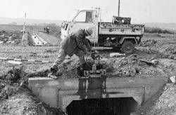 圃場整備工事(昭和48年2月)